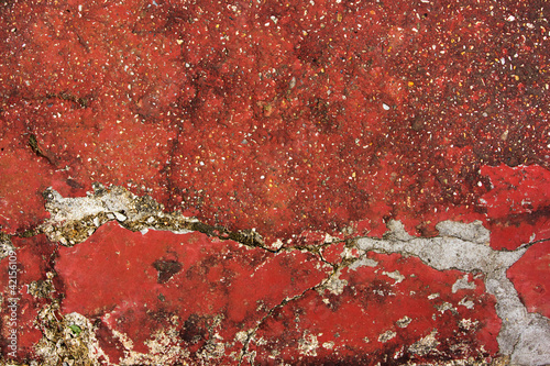 Poster Kyoto Background of a red cracked concrete floor