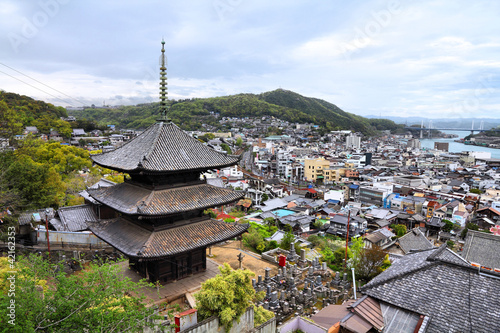 In de dag Japan Onomichi, Japan
