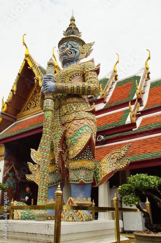 Photo  Demon Guardian and Architecture at Grand Palace, Bangkok
