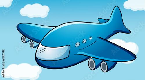 Fotobehang Vliegtuigen, ballon Airplane