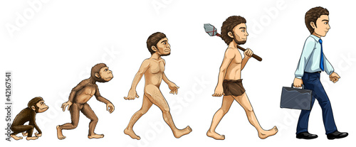 Fototapeta Evolution of man obraz