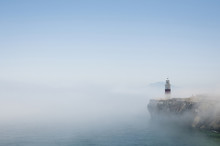Gibraltar Lighthouse In The Mist