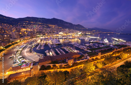 City on the water Monte Carlo harbor