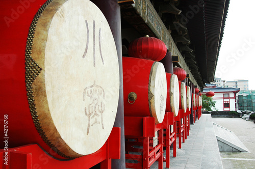 Foto op Plexiglas Xian Chinese drums