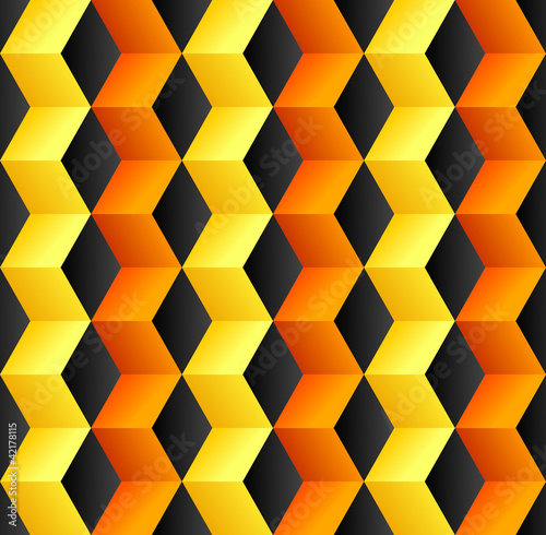 Recess Fitting ZigZag Abstract cube colorful background