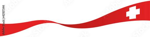 Fotografie, Obraz  Schwung Linie Band Schweiz 1:4 mit QXP 9 Datei