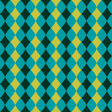 Seamless Pattern With White Rhombuses