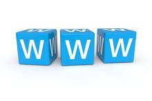 WWW Cubes 3d Render Illustration