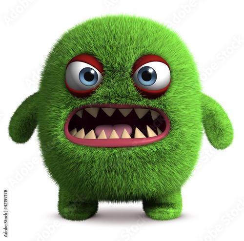 Poster de jardin Doux monstres cute furry monster