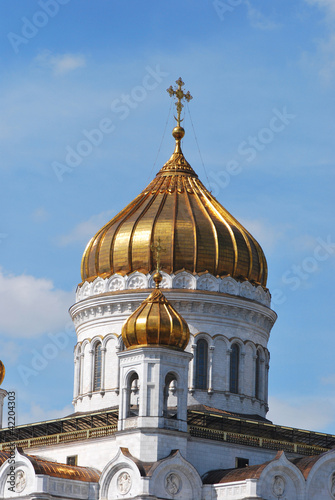 Foto op Plexiglas Kiev The Cathedral of Christ the Savior at night, Moscow, Russia