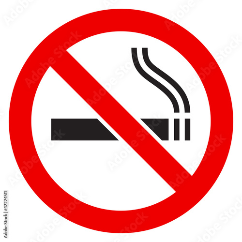 The sign No Smoking Canvas Print