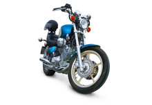 Brilliant Motorcycle On White Background