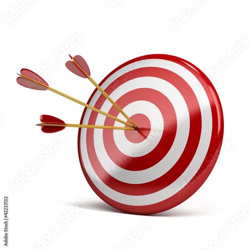 Fotografía  three arrows in target