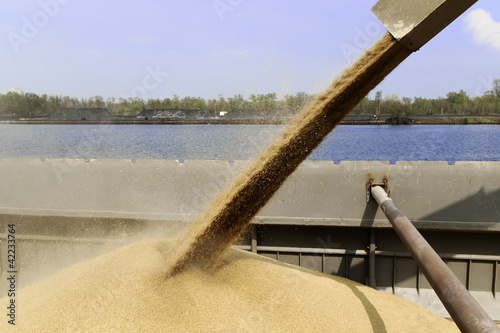 Fotografia  barge loading