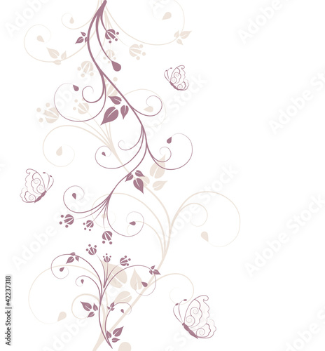 Stickers pour portes Hibou Beautiful, abstract floral background