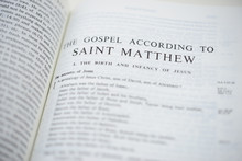 Bible According To ST Mathew