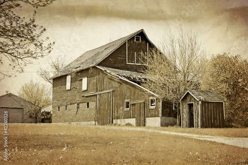 Poster  American Countryside - Vintage Design