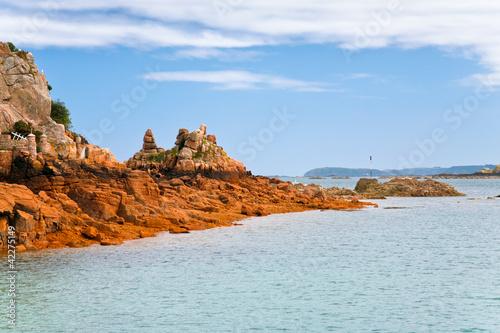 Canvas Print sea coastline in Brittany