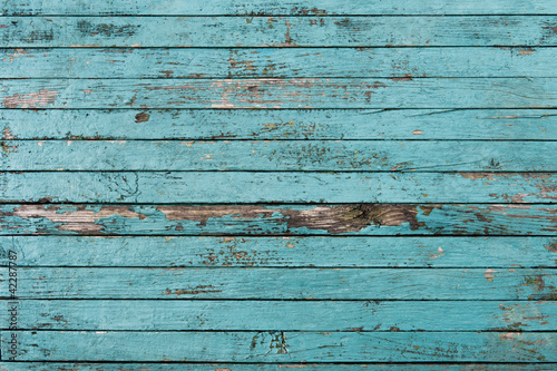 The background of the old painted boards Canvas Print