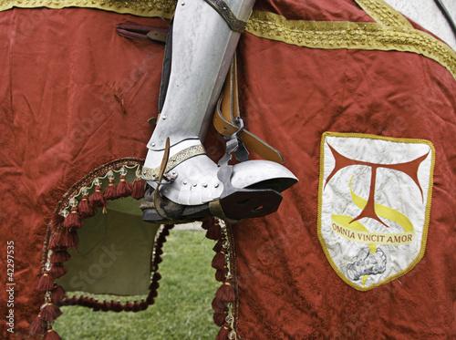 Photo  Templar Knight on horseback