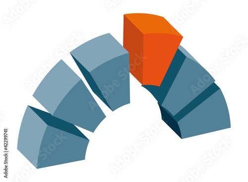 Fotografia, Obraz  Logo Signet Brücke Bausteine Treffen Schlussstein m QXP9 Datei