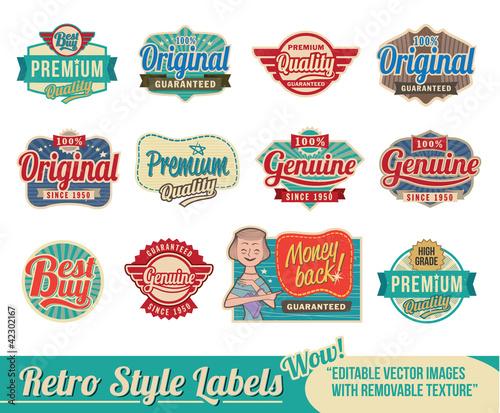 Fotomural Retro vintage labels