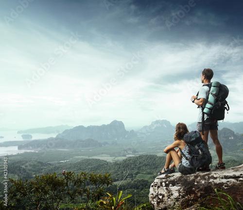 Foto-Stoff bedruckt - Backpackers (von Dudarev Mikhail)