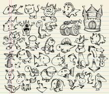 Sketch Doodle Vector Illustration Set