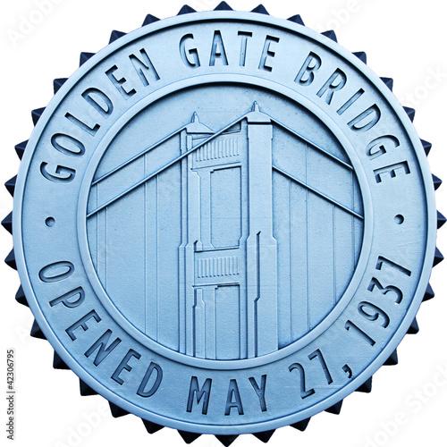 Valokuva  golden gate bridge eröffnungsbutton