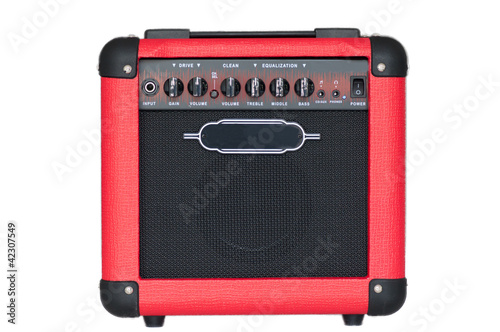 red guitar amplifier Canvas Print