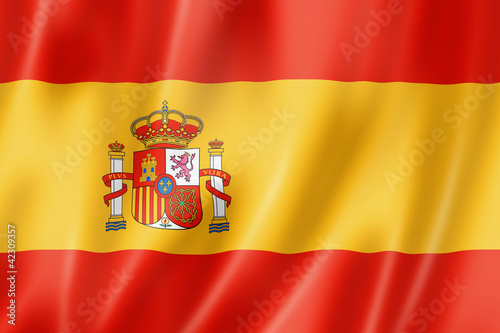Spanish flag Fototapet