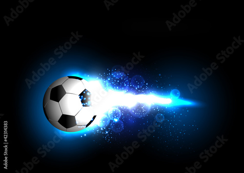 football-light-banner-with-a-soccer-ball