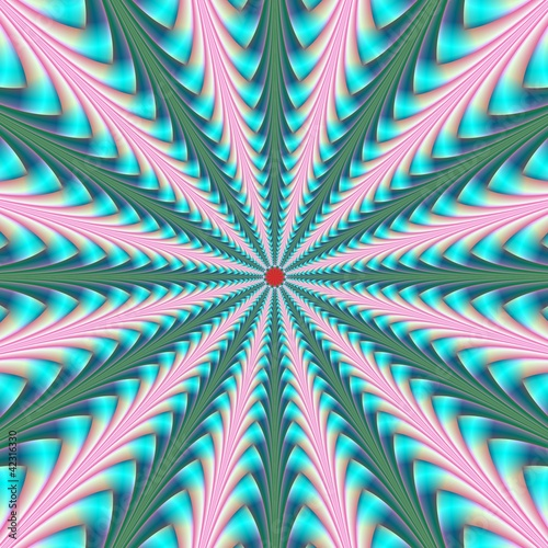 Photo Stands Psychedelic Center Point in Pink and Blue