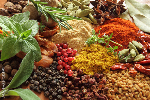 Fototapety, obrazy: Spices and herbs