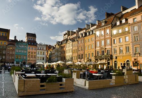 Fototapeta premium Rynek Starego Miasta w Warszawie
