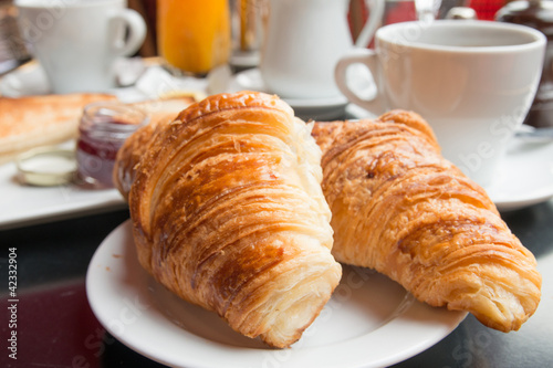 Photo Stands Coffee beans croissants