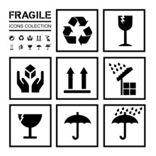 Packaging / Fragile Icons Coll...