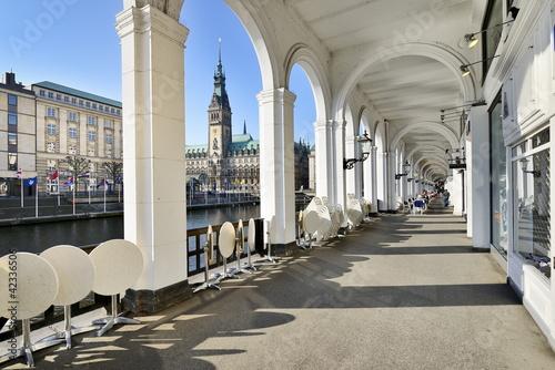 Fényképezés Alsterarkaden mit Hamburger Rathaus