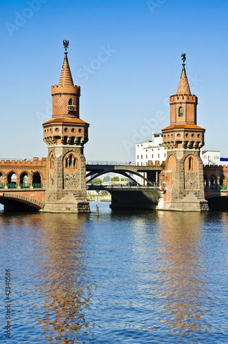 Oberbaum bridge in Berlin Poster