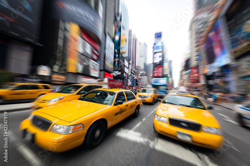 Staande foto New York TAXI New York taxis
