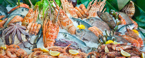 Fotobehang Schaaldieren Fresh seafood