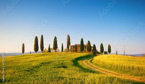 Foto op Plexiglas Toscane villa in toscana, italia