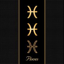 Pisces Horoscope Symbols, 3 Si...