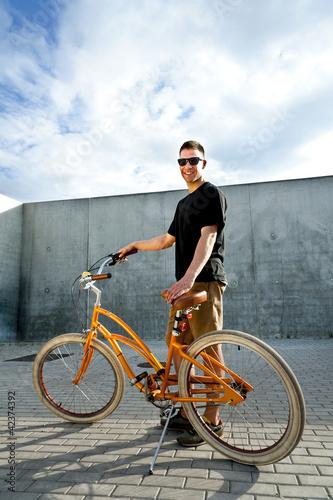 Staande foto Fiets man on bike
