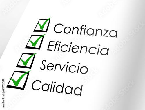 Fotografía  Confianza - eficiencia - servicio - calidad