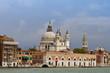 Sea-view of Basilica Santa Maria della Salute, Venice, Italy