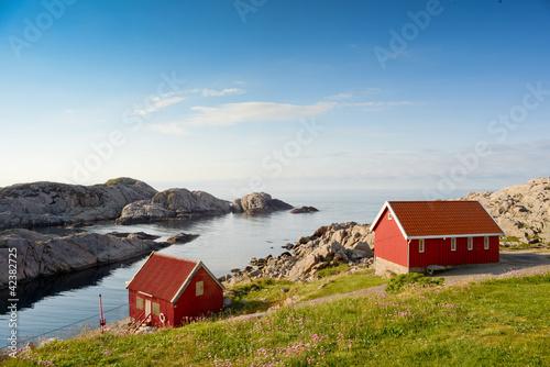 Foto op Aluminium Scandinavië Skandinavische Bootshäuser
