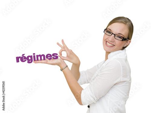 Fotografie, Obraz  Femme qui arrête les régimes