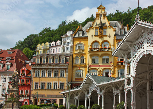 Valokuvatapetti city centre of Karlovy Vary,Czech Republic
