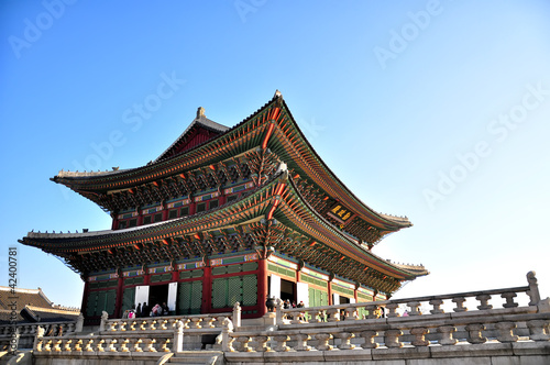 Photo  Gyeongbokgung palace in Seoul, Korea